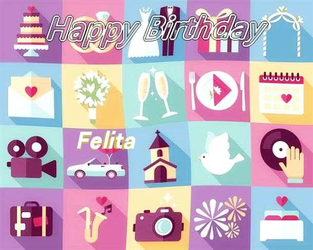 Happy Birthday Felita Cake Image