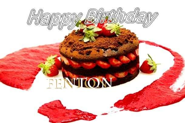 Happy Birthday Fenton Cake Image