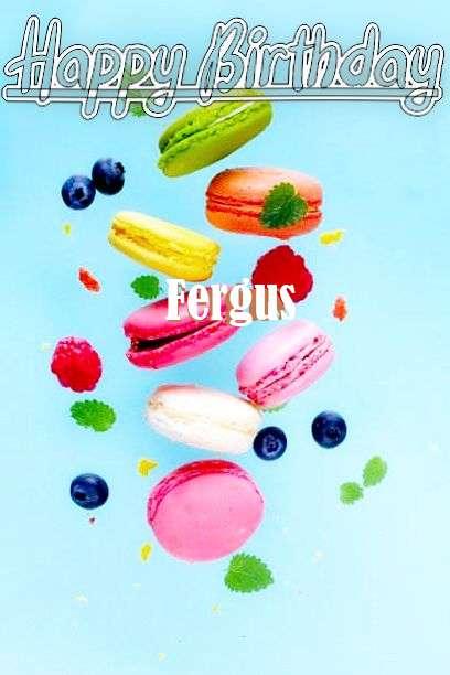 Happy Birthday Fergus Cake Image