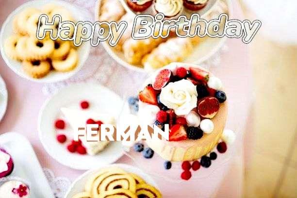 Happy Birthday Ferman Cake Image