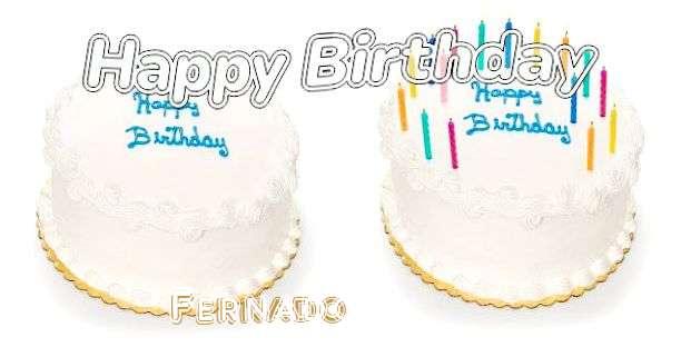 Happy Birthday Fernado Cake Image
