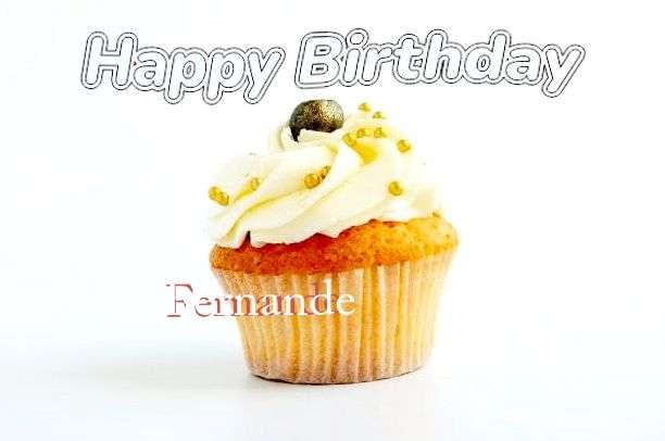 Happy Birthday Cake for Fernande