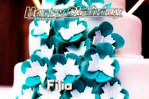 Birthday Wishes with Images of Filia