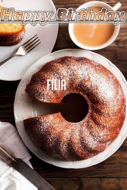 Happy Birthday Filia Cake Image