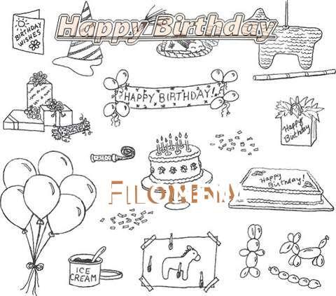 Happy Birthday Cake for Filomena