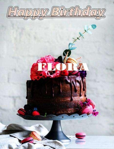 Happy Birthday Flora Cake Image
