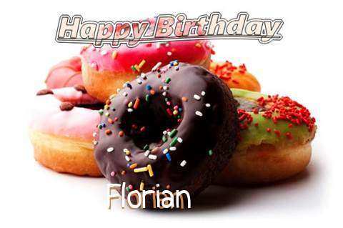 Birthday Wishes with Images of Florian