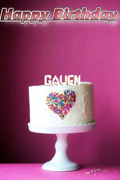 Birthday Wishes with Images of Gaven