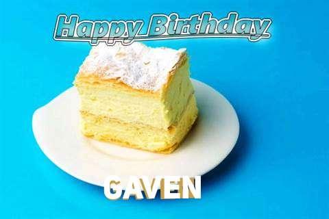 Happy Birthday Gaven Cake Image