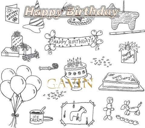 Happy Birthday Cake for Gavin