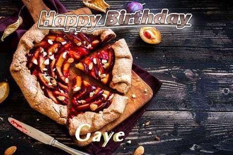 Happy Birthday Gaye Cake Image