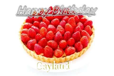 Happy Birthday Gayland Cake Image