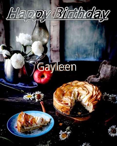 Happy Birthday Gayleen Cake Image