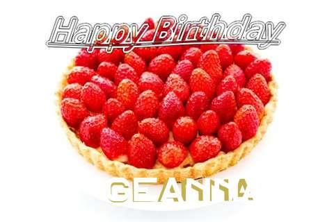 Happy Birthday Geanna Cake Image