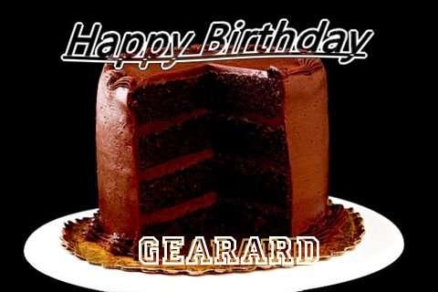 Happy Birthday Gearard Cake Image