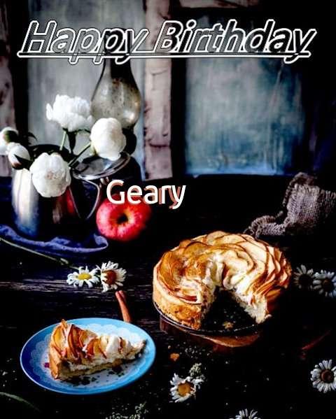 Happy Birthday Geary Cake Image