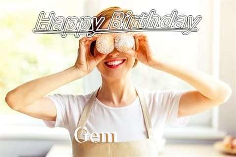 Happy Birthday Wishes for Gem
