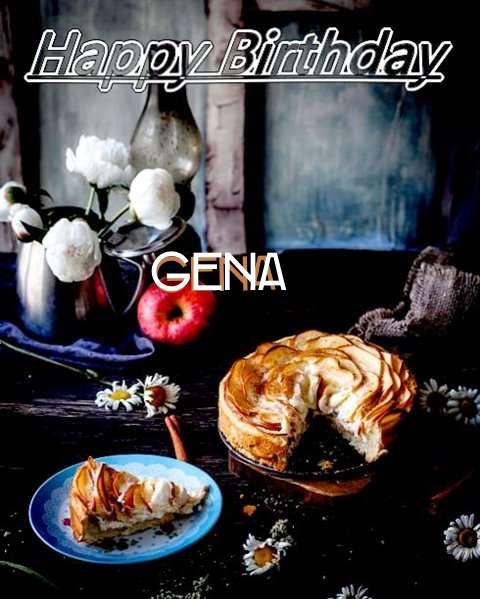 Happy Birthday Gena Cake Image
