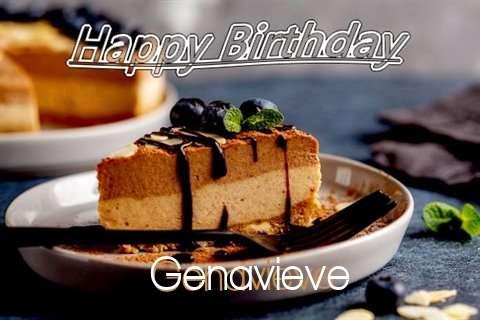 Happy Birthday Genavieve Cake Image