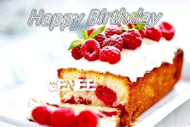 Happy Birthday Genee Cake Image
