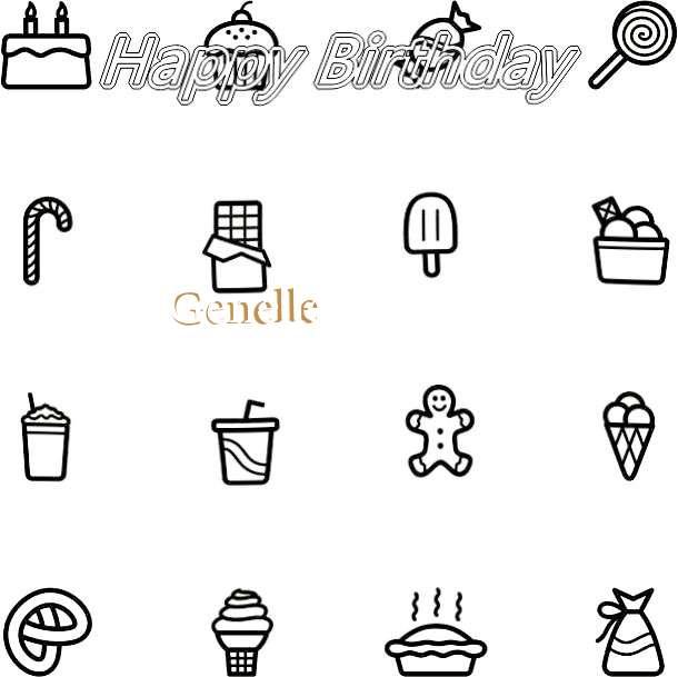 Happy Birthday Cake for Genelle