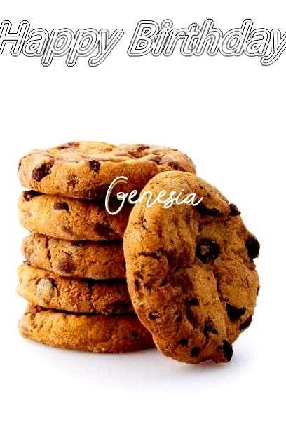Happy Birthday Genesia Cake Image