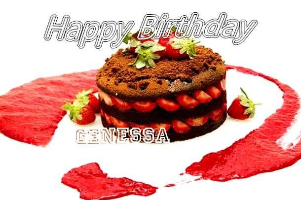 Happy Birthday Genessa Cake Image