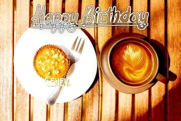 Happy Birthday Geneva Cake Image