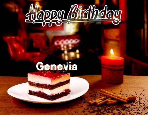 Happy Birthday Genevia Cake Image