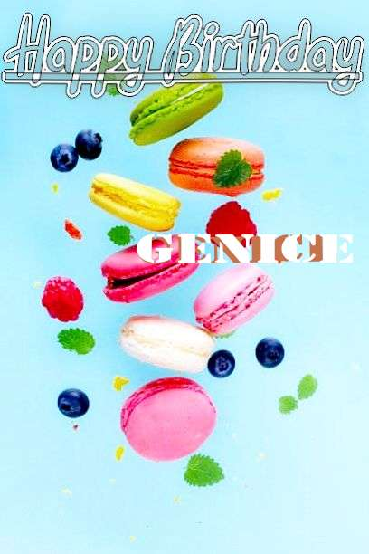 Happy Birthday Genice Cake Image