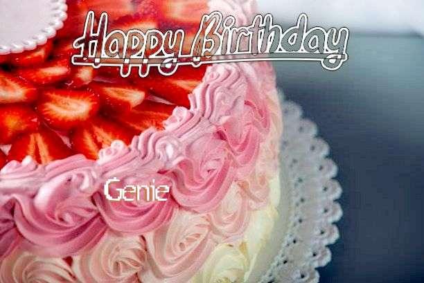 Happy Birthday Genie Cake Image