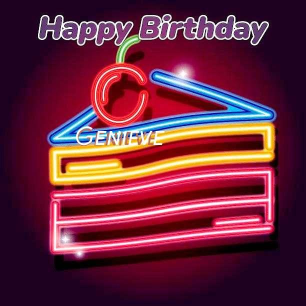 Happy Birthday Genieve Cake Image