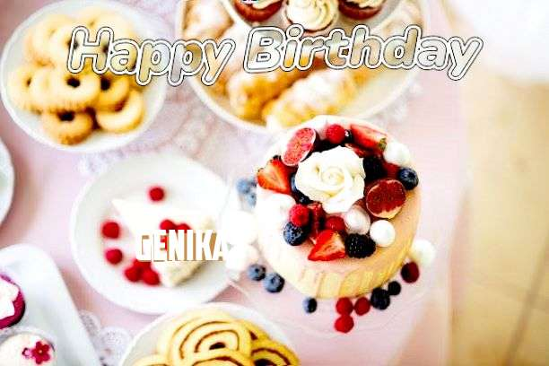 Happy Birthday Genika Cake Image