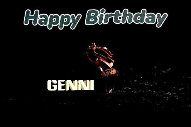 Happy Birthday Genni Cake Image