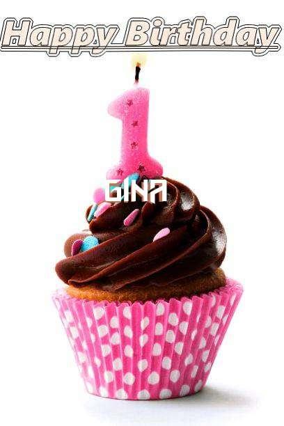 Happy Birthday Gina Cake Image