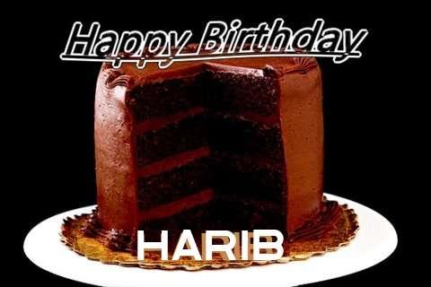Happy Birthday Harib Cake Image