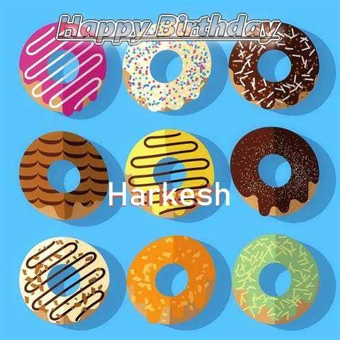 Happy Birthday Harkesh Cake Image