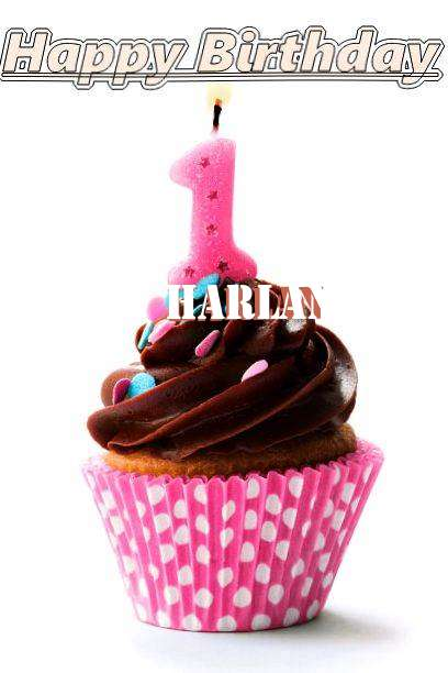 Happy Birthday Harlan Cake Image