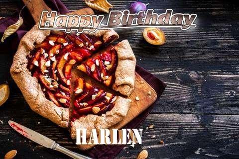 Happy Birthday Harlen Cake Image