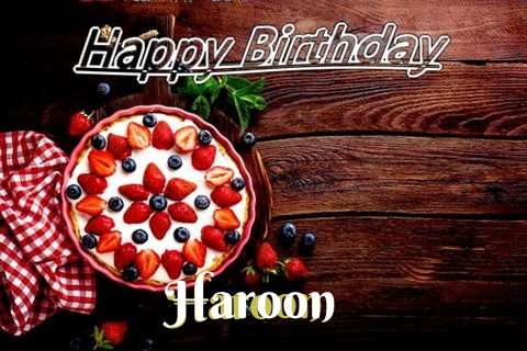 Happy Birthday Haroon Cake Image
