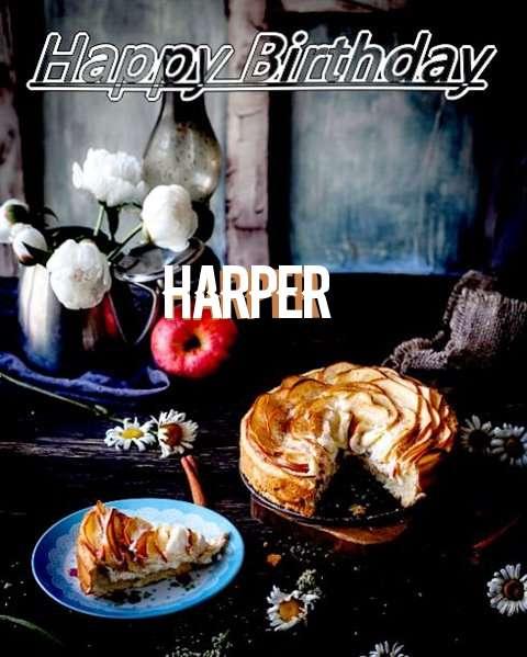 Happy Birthday Harper Cake Image