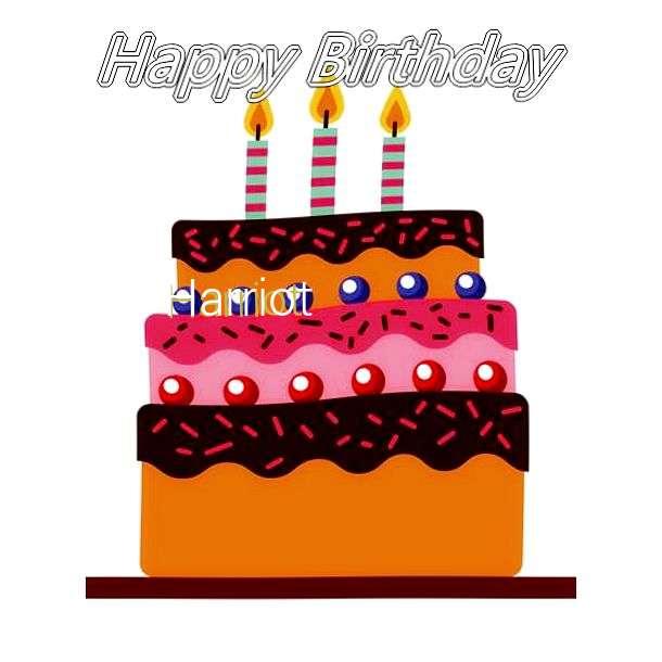 Happy Birthday Harriot Cake Image