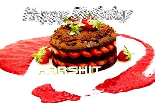 Happy Birthday Harshit Cake Image
