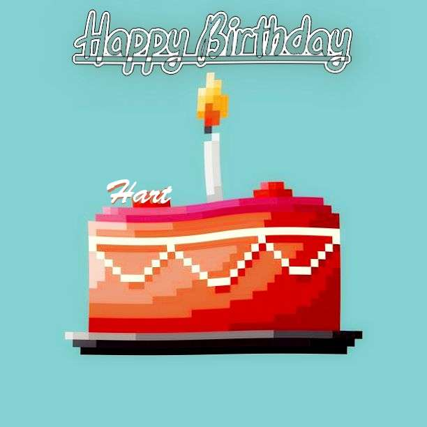 Happy Birthday Hart Cake Image