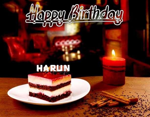 Happy Birthday Harun Cake Image