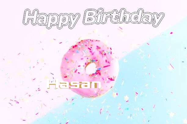 Happy Birthday Cake for Hasan