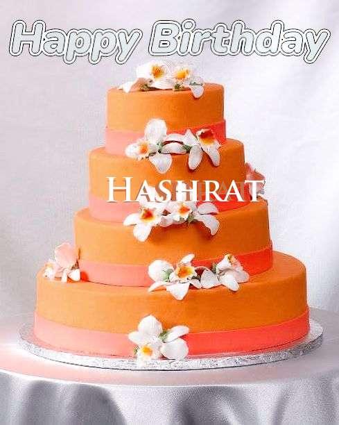 Happy Birthday Hashrat Cake Image