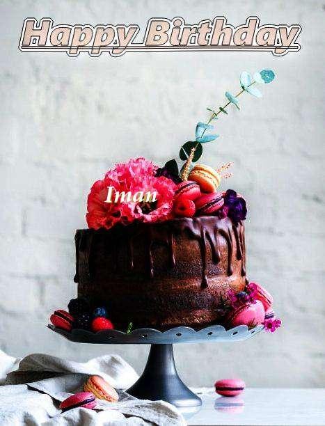 Happy Birthday Iman Cake Image