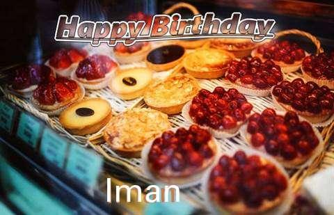 Happy Birthday Cake for Iman