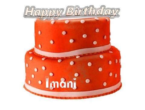 Happy Birthday Cake for Imani